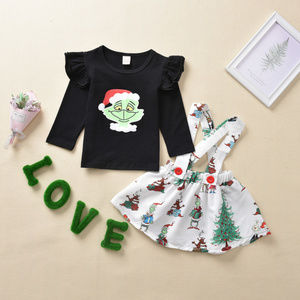 Dr Seuss Grinch Suspender Skirt Christmas Outfit